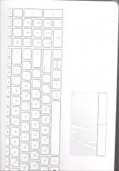 Клавиатура 925009-251 с корпусом для ноутбука HP Pavilion